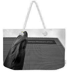 Weekender Tote Bag featuring the photograph Tampa Museum Of Art Work A by David Lee Thompson