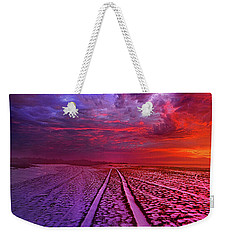 Weekender Tote Bag featuring the photograph To All Ends Of The World by Phil Koch