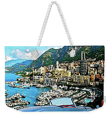Alfred Hitchcock's,  To Catch A Thief - 1953 Sunbeam Alpine Mk1, Mixed Media Weekender Tote Bag by Thomas Pollart