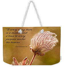 To Everything A Season Weekender Tote Bag