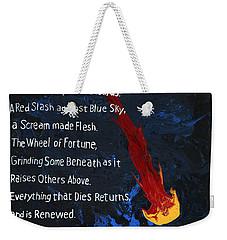 To Fall Weekender Tote Bag