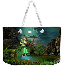 Weekender Tote Bag featuring the digital art To Go Beyond by Shadowlea Is