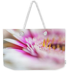 Weekender Tote Bag featuring the photograph To Live In Dream 1. Macro Gerbera by Jenny Rainbow