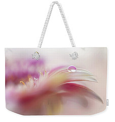 Weekender Tote Bag featuring the photograph To Live In Dream 2. Macro Gerbera by Jenny Rainbow