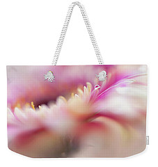 Weekender Tote Bag featuring the photograph To Live In Dream 5. Macro Gerbera by Jenny Rainbow