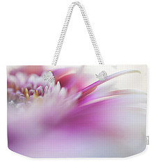 Weekender Tote Bag featuring the photograph To Live In Dream. Macro Gerbera by Jenny Rainbow