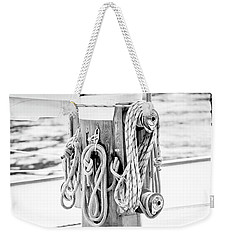 Weekender Tote Bag featuring the photograph To Sail Or Knot by Greg Fortier