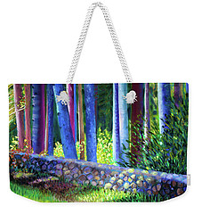To The Left Of The Entrance To New Pond Farm Weekender Tote Bag