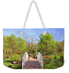 Weekender Tote Bag featuring the photograph To The Other Side Of Spring by Angie Tirado