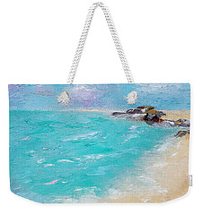 Weekender Tote Bag featuring the painting To The Rocks by Judith Rhue