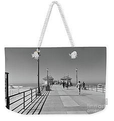 Weekender Tote Bag featuring the photograph To The Sea On Huntington Beach Pier by Ana V Ramirez