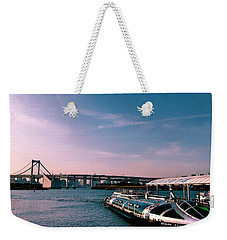 To The Space From Sea Weekender Tote Bag by Momoko Sano