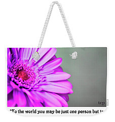 To The World Weekender Tote Bag