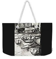 Apples At Breakfast Weekender Tote Bag by Brenda Pressnall