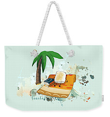 Weekender Tote Bag featuring the digital art Toasted Illustrated by Heather Applegate