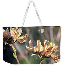 Weekender Tote Bag featuring the photograph Toasted by Melinda Blackman