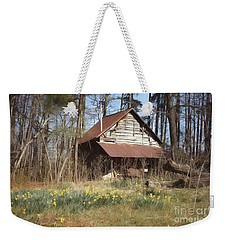 Weekender Tote Bag featuring the photograph Tobacco Barn In Spring by Benanne Stiens