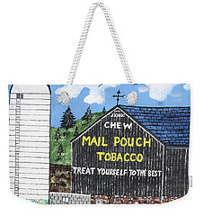 Weekender Tote Bag featuring the painting Pennsylvania Tobacco Barn by Jeffrey Koss