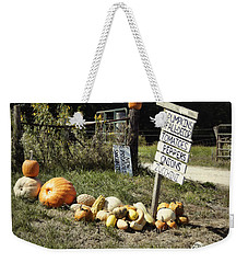 Weekender Tote Bag featuring the photograph Today's Harvest by Cricket Hackmann