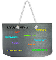Today's Menu #2 Weekender Tote Bag