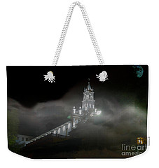 Weekender Tote Bag featuring the photograph Todos Santos In The Fog by Al Bourassa