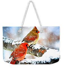 Together In The Snow Weekender Tote Bag