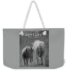 Weekender Tote Bag featuring the photograph Together by Rebecca Cozart