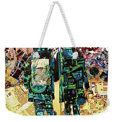 Weekender Tote Bag featuring the painting Together by Tony Rubino