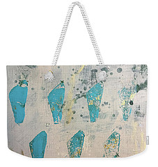 Weekender Tote Bag featuring the painting Tokens by Robin Maria Pedrero
