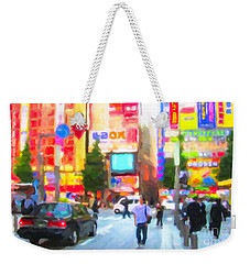 Weekender Tote Bag featuring the painting Tokyo by Chris Armytage