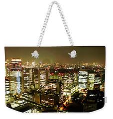 Tokyo Skyline Weekender Tote Bag by Nancy Ingersoll