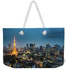 Tokyo Tower And Skyline Weekender Tote Bag