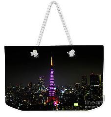 Tokyo Tower Night Weekender Tote Bag