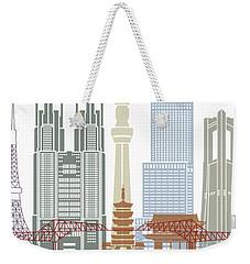 Tokyo V2 Skyline Poster Weekender Tote Bag by Pablo Romero