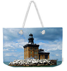 Weekender Tote Bag featuring the photograph Toledo Harbor Lighthouse by Michiale Schneider