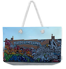 Weekender Tote Bag featuring the photograph Toledo Loves Love by Michiale Schneider