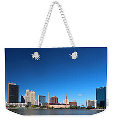 Weekender Tote Bag featuring the photograph Toledo Skyline I by Michiale Schneider