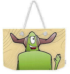 Weekender Tote Bag featuring the drawing Tollak by Uncle J's Monsters