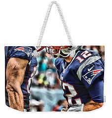 Tom Brady Art 4 Weekender Tote Bag by Joe Hamilton