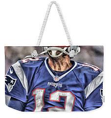 Tom Brady Art 5 Weekender Tote Bag by Joe Hamilton