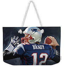 Tom Brady Artwork Weekender Tote Bag