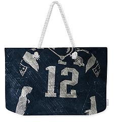 Tom Brady Patriots 4 Weekender Tote Bag by Joe Hamilton