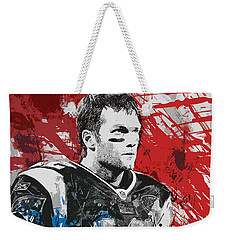 Tom Brady Red White And Blue Weekender Tote Bag