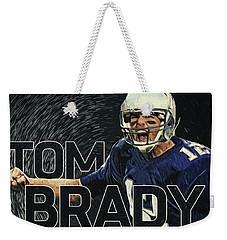 Tom Brady Weekender Tote Bag by Taylan Apukovska