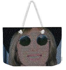 Tom Petty Song List Mosaic Weekender Tote Bag