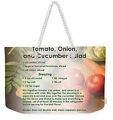 Tomato Onion Cucumber Salad Recipe Weekender Tote Bag