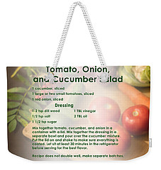 Tomato Onion Cucumber Salad Recipe Weekender Tote Bag