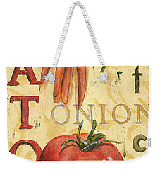 Tomato Soup Weekender Tote Bag by Debbie DeWitt