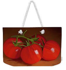 Tomatoes 01 Weekender Tote Bag by Wally Hampton