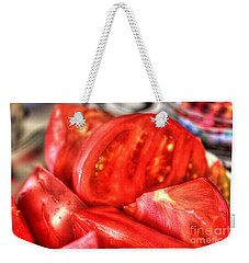 Weekender Tote Bag featuring the pyrography Tomatoes by Yury Bashkin
